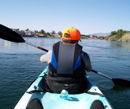 Kayaking down the Colorado River