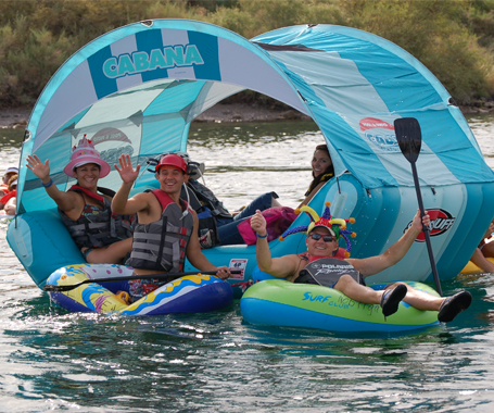 Floaters Enjoy the River Regatta
