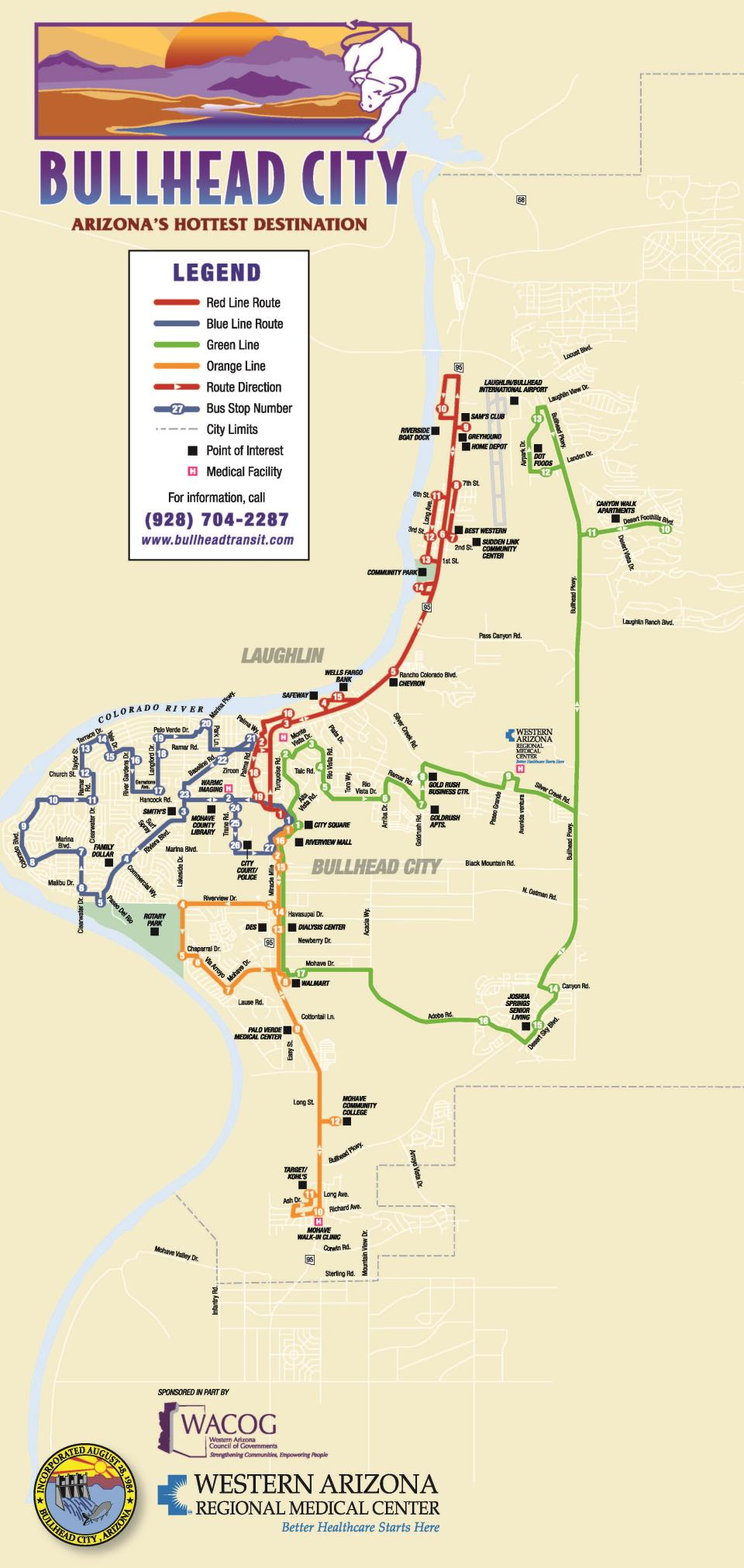 Bullhead City Map Bullhead Area Transit | Bullhead City, AZ