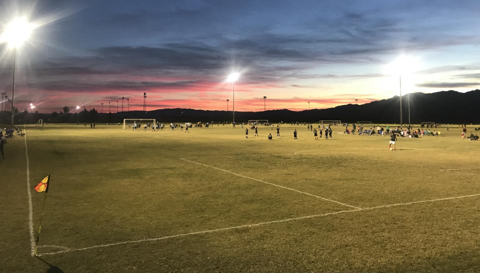 evening soccer view